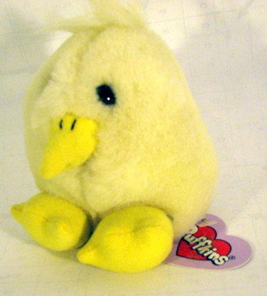 Puffkins Plush Yellow Chick - 1