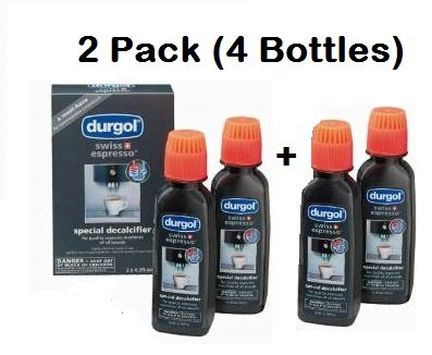 Durgol Swiss Espresso Decalcifier for All Brands High-End Espresso Machines, 4.2 Fluid Ounce Bottle, 4-Pack