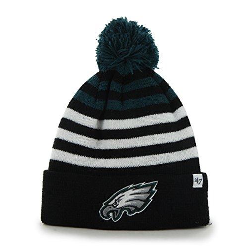 nfl-philadelphia-eagles-youth-yipes-cuff-knit-with-pom-one-size-black