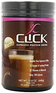 CLICK Espresso Protein Drink, Mocha (14-Servings), 15.8-Ounce Canister