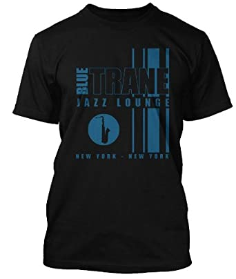 JOHN COLTRANE inspired Blue Trane Jazz Lounge T-shirt, Mens, Small, Black
