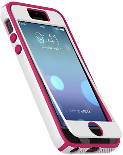 Speck Products iPhone 5/5s CandyShell + FACEPLATE Case White/Raspberry Pink
