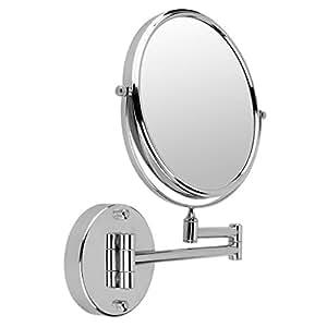 Floureon miroir rond sur pied mural 20 cm pour salle de for Miroir grossissant x 20