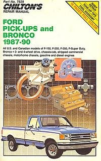 Ford Pick-ups and Bronco, 1987-90, Chilton Book Company