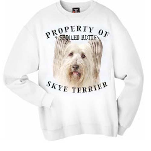 41TW4Og8RcL ^ Skye Terrier Property Of Adult Sweatshirt   SMALL Promo Offer