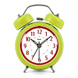 Modern Fashion Lovely Colorful Metal Alarm Clock Olive Green 921
