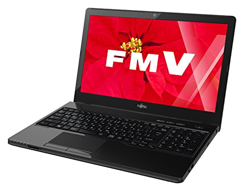 富士通 FMV LIFEBOOK AHシリーズ WA2/W(Windows 10/15.6型ワイド/Core i7/8GBメモリ/約1TB HDD/Office Home and Business Premium/シャイニーブラック)FMVWWA27B_Z513
