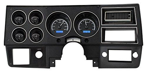 Dakota Digital 73 - 87 Chevy GMC Pickup Truck VHX Analog Dash Gauges Black Alloy Blue VHX-73C-PU-K-B (73 87 Chevy Truck compare prices)