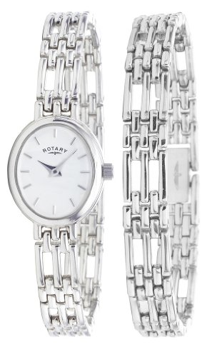 Rotary LB20061/BR/02 Ladies Sterling Silver Bracelet and Matching Watch Set