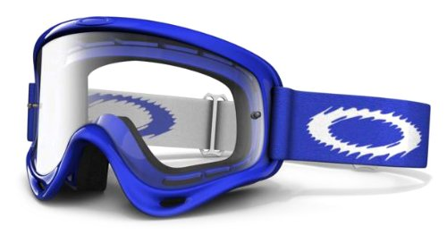 Oakley O-Frame MX Blue Goggles with Clear Lens