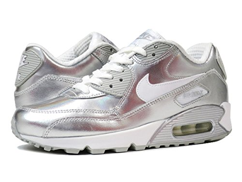 Amazon.co.jp: [ナイキ]NIKE AIR MAX 90 PREMIUM LEATHER GS WHITE/METALLIC SILVER/WHITE [並行輸入品]: シューズ&バッグ:通販