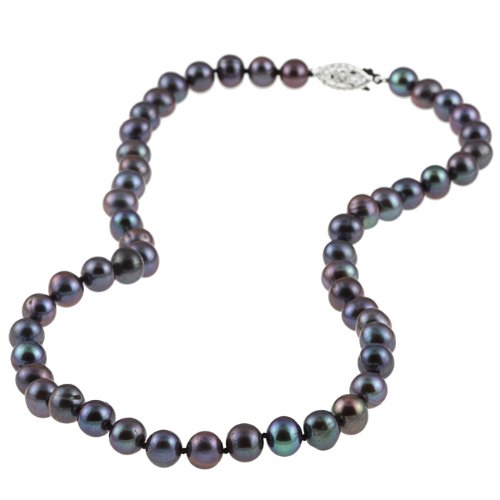 16-inch Black Freshwater Pearl Strand (6.5-7 mm)