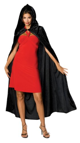 Rubie's Costume Full Length Crushed Velvet Hooded Cape