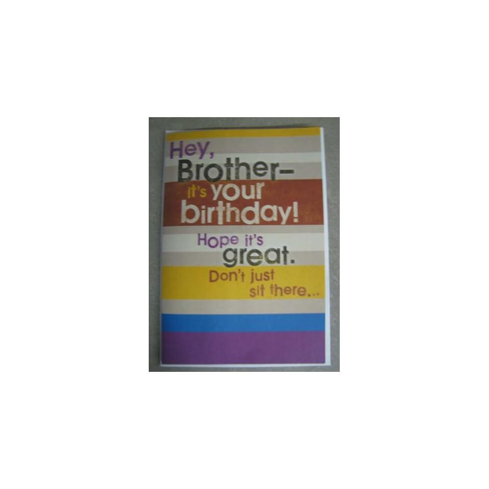 Hallmark Brother Birthday Card JNG1020 Celebration Music