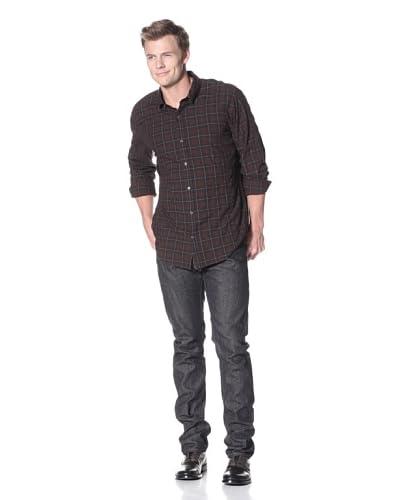 Vince Men's Flannel Plaid Shirt