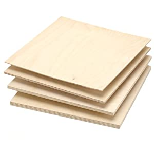 Baltic Birch Plywood, 9mm - 3/8x12x12 - This plywood is a functional grade material composed of birch from parts of Russia