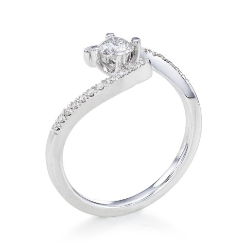 GIA Certified, Round Cut, Solitaire Diamond Ring in Platinum (1/2 ct, G Color, SI1 Clarity)
