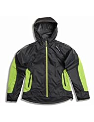 Polaris Sapphire Womens Waterproof Jacket Black / Green - Size 16