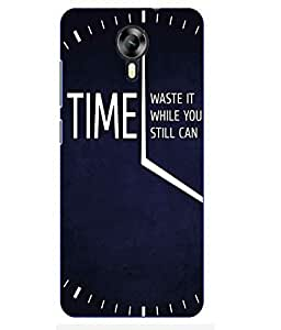 Make My Print Time Slogan Printed Navy Blue Hard Back Cover For MEIZU M2