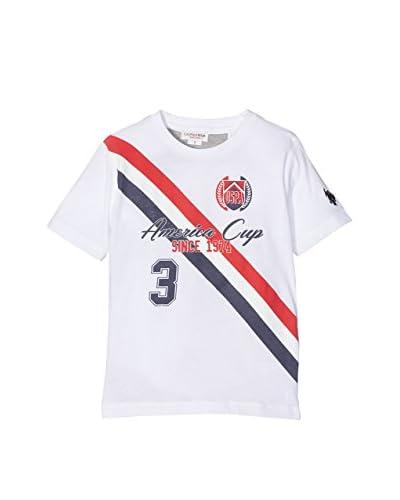 US POLO ASSN Camiseta Manga Corta Blanco / Gris