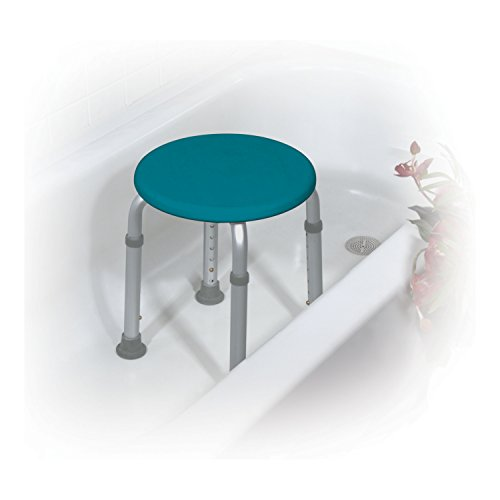 Adjustable Height Teal Bath Stool Furniture Benches Vanity