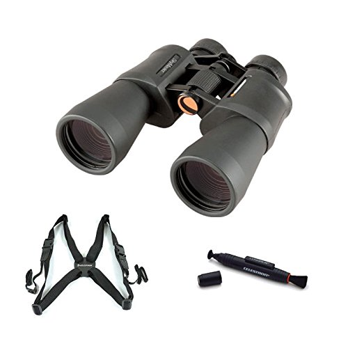 Celestron 8X56 Skymaster ® Porro Prism Rubber Armored Binoculars With Lenspen Cleaning Tool And Binocular Harness