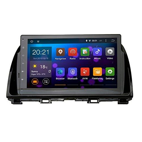 SYGAV Android 5.1.1 Lollipop Car Stereo Video Player GPS Navi for Mazda CX5 CX-5 2013 2014 2015 In-dash 10.2 Inch 1024x600 Quad Core with Wifi Bluetooth Radio (Sd Gps Mazda 3 2014 compare prices)