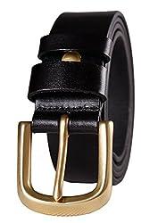 Blueblue Sky Men's Retro Genuine Leather Belts#tz2029 (43 in, Black)