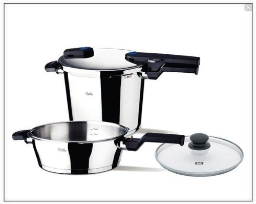 Fissler Vitaquick Quattro Pressure Cooker Set (Fissler Pressure Skillet compare prices)