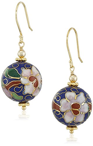 Porcelain Round Bead Drop Earrings