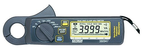 Extech 380947 400 Ampere True Rms Ac/Dc Mini Clamp On Meter With High Current Resolution