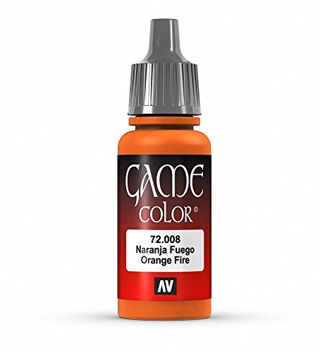 Vallejo Game Color Orange Fire Paint, 17ml