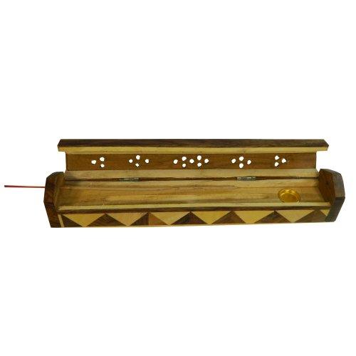 Porta inciensos pirámide 25 cm madera