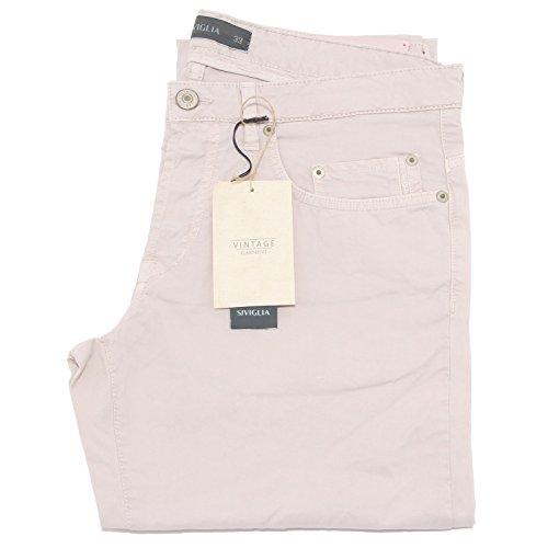81597 pantaloni lunghi SIVIGLIA rosa jeans uomo trousers men [33]