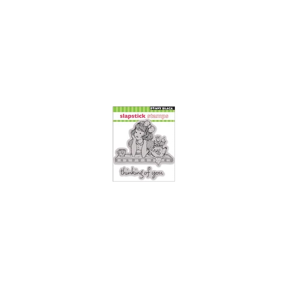 Penny Black Cling Rubber Stamp 4X5 Thinking Of You
