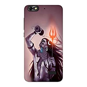 AJAYENTERPRISES Bhole With Damro Back Case Cover for Honor 4C
