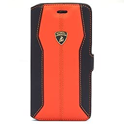 Lamborghini Huracan-D1 Genuine Leather Ultra Slim Side Flip Case with Cardholder for iPhone 6, 4.7\