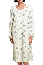 Floral Fleece Nightdress [T37-4876-S]