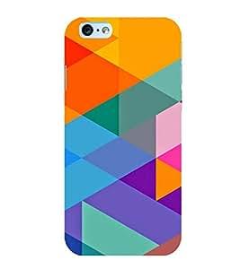 MULTICOLOURED TRIANGULAR PATTERN 3D Hard Polycarbonate Designer Back Case Cover for Apple iPhone 6S