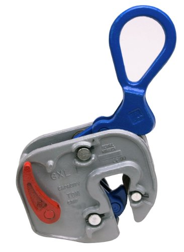Campbell 6422012 Vertical and Horizontal to Vertical GXL Plate Lifting Clamp, 1/16