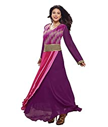 Monalisa Fabrics Women's Unstitched Dress Material (2251132_Purple _Free Size)