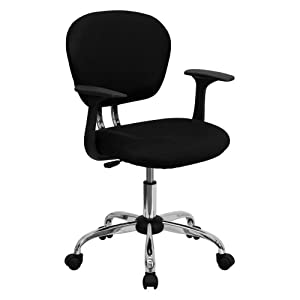 Flash Furniture Mid-Back Mesh Task Chair with Arms and Base