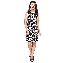Bonne Vie Women's Cotton Dress (AnimalB_Black_Medium)