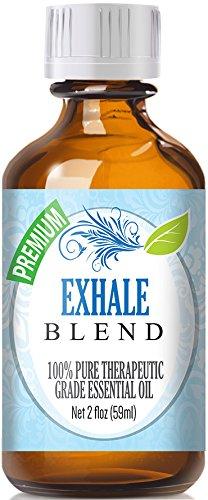 Exhale Blend 100% Pure, Best Therapeutic Grade Essential Oil - 60ml / 2 (oz) Ounces - Comparable to DoTerra's Breathe & Young Living's Raven Blend - Peppermint, Eucalyptus, Lemon, Tea Tree, Ravensara
