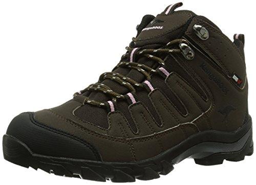 KangaROOS K-Trekking 3007W, Scarponcini outdoor Donna, Marrone (Braun (chocolate/blk/pinkyboo 356)), 40