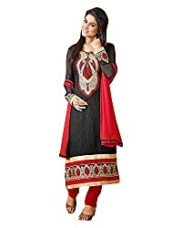 Clothing Deal Women's Faux Georgette Unstitched Dress Material (Red )