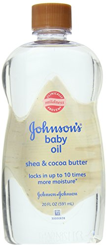 Johnson's Baby Oil Shea and Cocoa Butter, 20 Ounce (Pack of 3) - 1