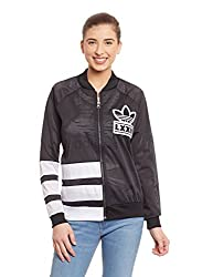 adidas Originals Women's Quilted Jacket (AB2678_Black_36)