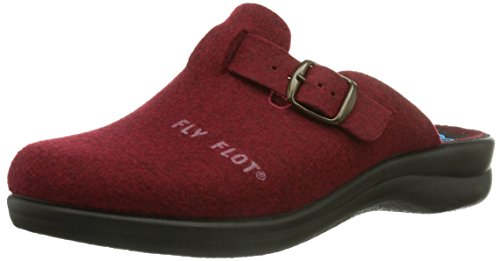 Fly Flot - Pantofole 861790 Donna, Rosso (Rot (Bordo)), 41