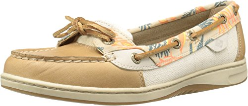 Sperry Top-Sider Women's Angelfish Boat Shoe, Tan/Sand Multi, 8.5 M US